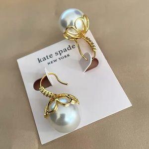 Kate Spade earrings gold pearl earringsl